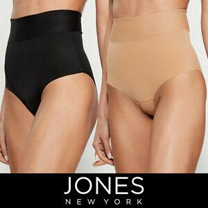 Jones New York Laser Cut Shaping Brief, 2 Pack Dark Nude/Black $30 Free Shipping