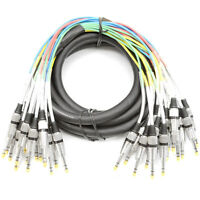 Seismic Audio 15 Foot 16 Channel 1/4 Trs Snake Cable Recording Patch on sale