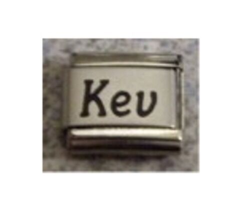 9mm Classic Size Italian Charms Fits Names Name Kev