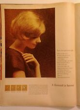Vintage Ad - 1964 De Beers Diamond - Color, 10.5 x 14, Nice!