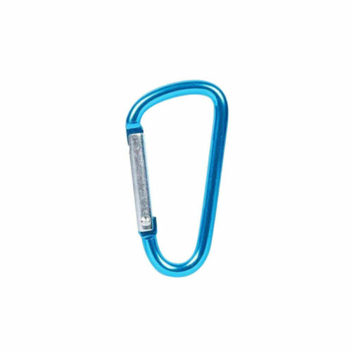 Aluminum Carabiner D-Ring Clip Hook Climbing Keychain Screw Locking Outdoor