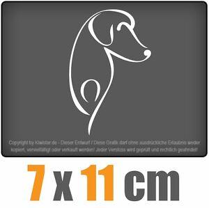 Perro-7-x-11-cm-JDM-decal-sticker-coche-car-blanco-discos-pegatinas