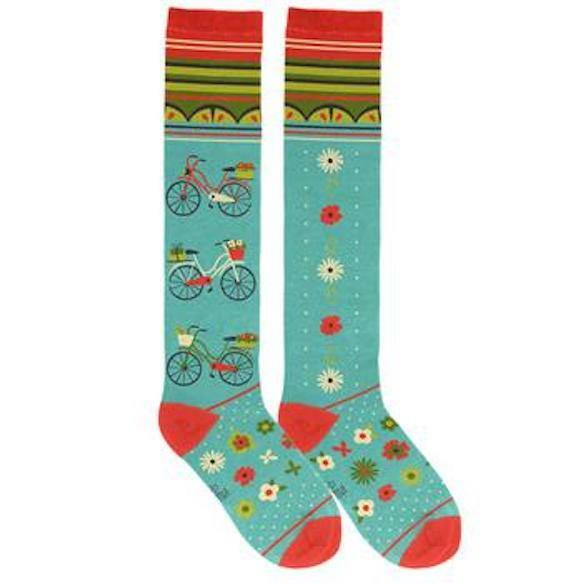 6143d089e Bicycle Knee Socks by Karma Gifts for sale online