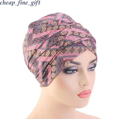 Turban Bonnet Foulard Femmes Floral Perte de Cheveux Chimio Cap musulmans de l/'Inde Hat hijab