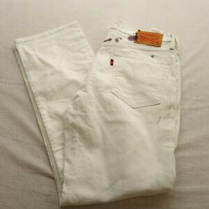 Levi-039-s-Uomo-514-0459-Dritto-Bianco-Pittore-Jeans-Elasticizzato-Taglie-32-x-30