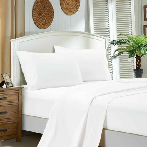 Luxury 100/% Egyptian Cotton Fitted Sheets Flat Sheet 400TC Single Double King
