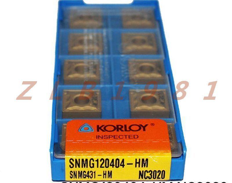 10Pcs NEW- KORLOY CNC blade SNMG120404-HM NC3020 SNMG431-HM