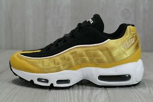 b6a2d8ca11 39 Nike Womens Air Max 95 LX Gold Wheat Gold Black Shoes Size 7.5 ...