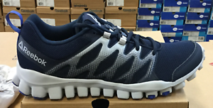 b990b4f63bca Reebok RealFlex Train 4.0 Men s Running Training Shoes Navy Grey ...