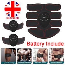 EMS Trainer Abdominal Toning Muscle Toner Gym Abs Smart Fitness Belt + Batteries