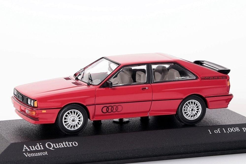 Audi Quattro 1981 rojo Minichamps 1 43 nuevo nuevo nuevo en el embalaje original 243ba8