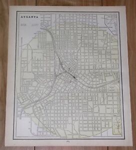 City Map Of Atlanta Georgia.1890 Original Antique City Map Of Atlanta Georgia Milwaukee