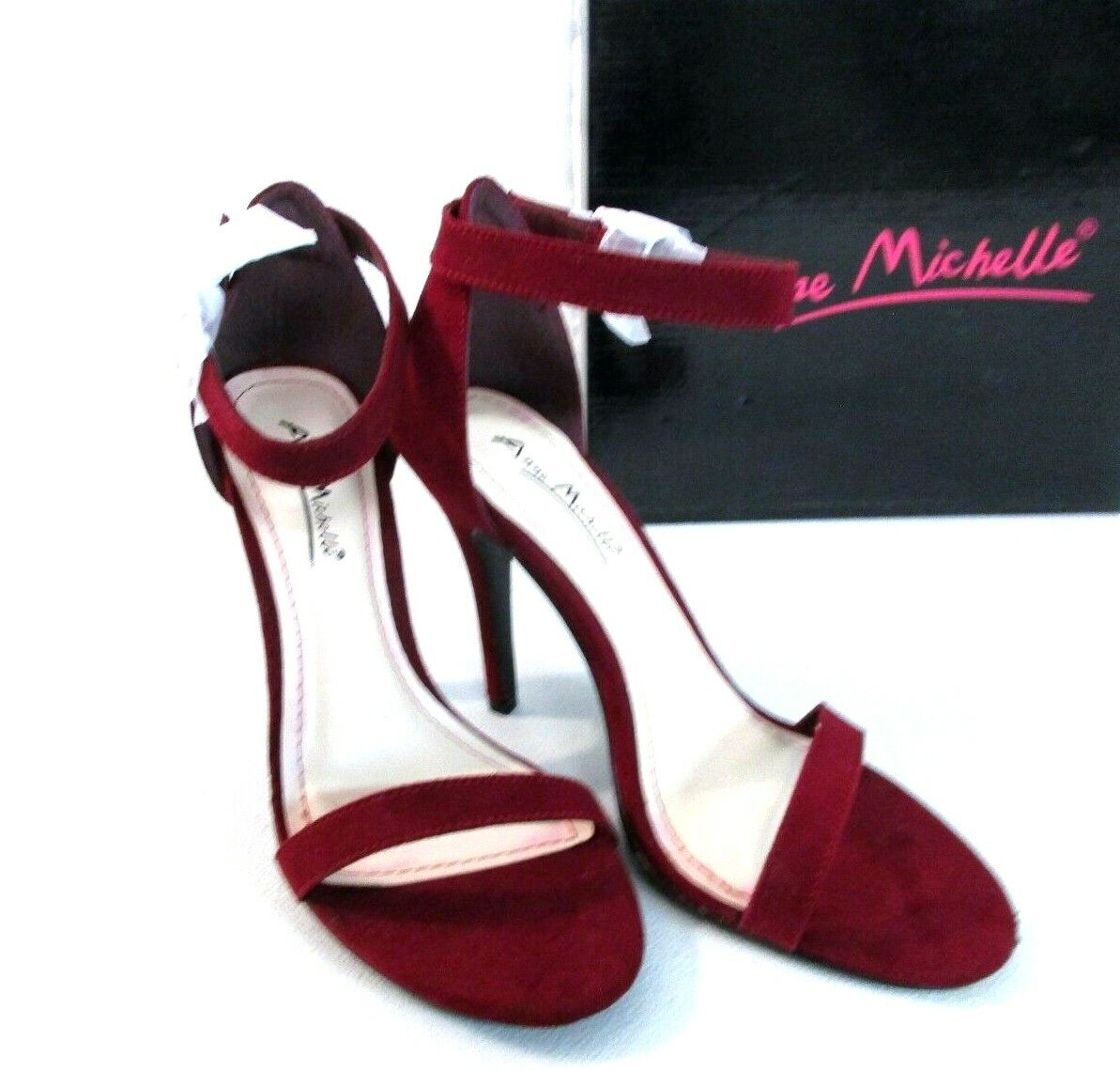 Anne Michelle Size 6 Burgundy Wine Dressy outing shoes 4 inch heels 173305 []