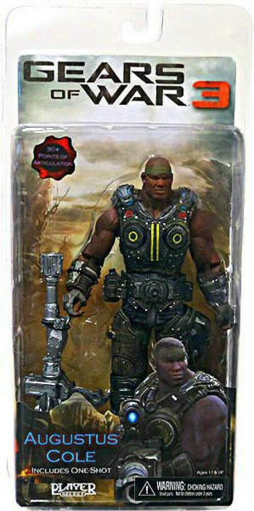 NECA Gears of War 3 3 3 Series 2 Augustus Cole Action Figure [One Shot] 03f7ec
