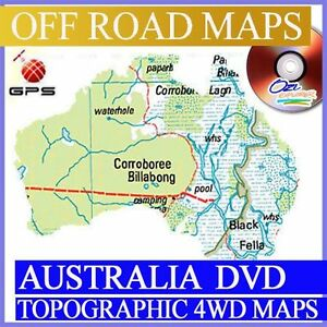 4wd Map Of Australia.Details About Australian Gps Maps Dvd Oziexplorer Digital Topographic For Off Road 4wd 4x4