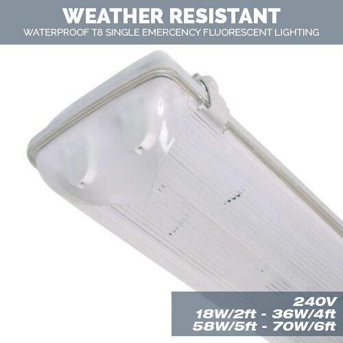 Twin Weatherproof Non Corrosive Strip Fluorescent Lights 18W,36W,58W,70W T8 SALE