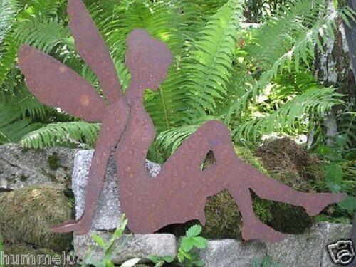 Edelrost elfe assis 70 cm Fée Jardin Décoration Bougie ROUILLE FER PATINE automne