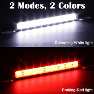 White-Red-Car-30LED-Backup-Light-Bar-Brake-Reverse-Rear-License-Plate-Lamp-strip
