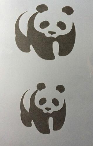 Panda Animal A4 Mylar Reusable Stencil Airbrush Painting Art Craft