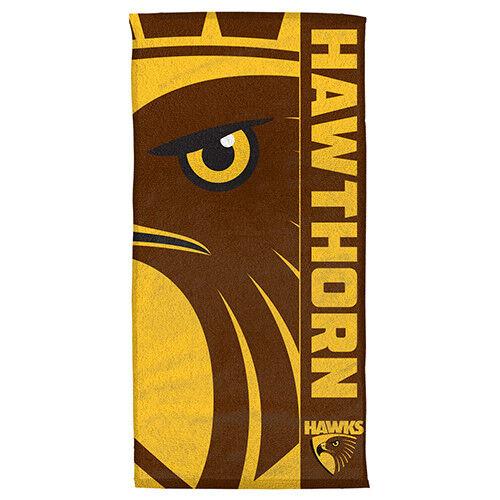 Hawthorn Hawks AFL Bath Gym Towel Fathers Day Christmas Birthday Man Cave Gift