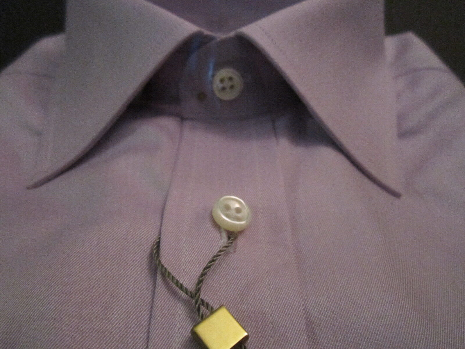 53f3cc3b1 NWT IKE BEHAR BEHAR BEHAR NEW YORK TWILL PURPLE HELIO MENS DRESS SHIRT gold  LABEL 17 LS 32 6e519f