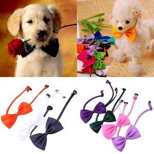 10Pcs/Set Lovely Cute Bow Tie For Dog Cat Pet Necktie Neck Collar Adjustable