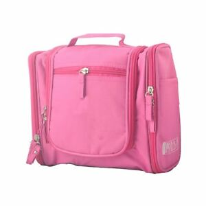 ca7fe80b54f8 Details about Deluxe Travel Gym Toiletry Bag Cosmetic Makeup Case Pink Wash  Bag Organiser UK