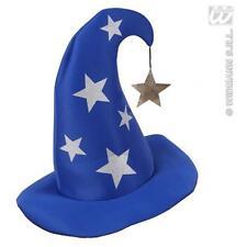 Blue Wizard Hat With Stars Mickey Mouse Fantasia Warlock Fancy Dress Prop