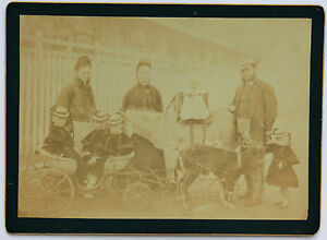 DéTerminé Famille Nombreuse En Promenade Vintage Ca 1880