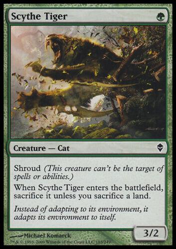 Scythe Tiger Zendikar Magic Card MTG