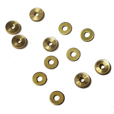 Assortment of 12 Hand Nuts for American Clocks with Threaded Minute hand Arbors