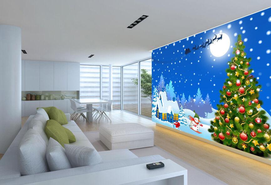 3D Blau Sky Tree 724 Wallpaper Mural Paper Wall Print Wallpaper Murals UK