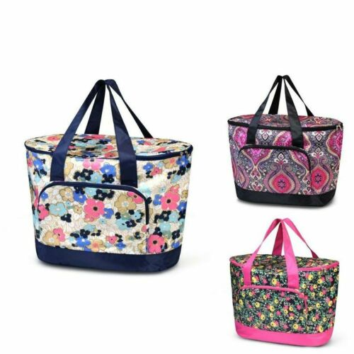 Women Large Leak Resistant Cooler Bag Tote Carry Bag for Beach Picnic Camping