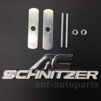 Metal AC Schnitzer Logo Emblems Car Grille Badges Auto Trunk Rear Tailgate