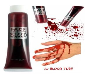 GLITTER fake blood VAMPIRO ZOMBIE mostro Halloween Teatrale Costume