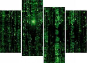 Gaming - Matrix Code Grüner Regen Poster Leinwand-Druck ...