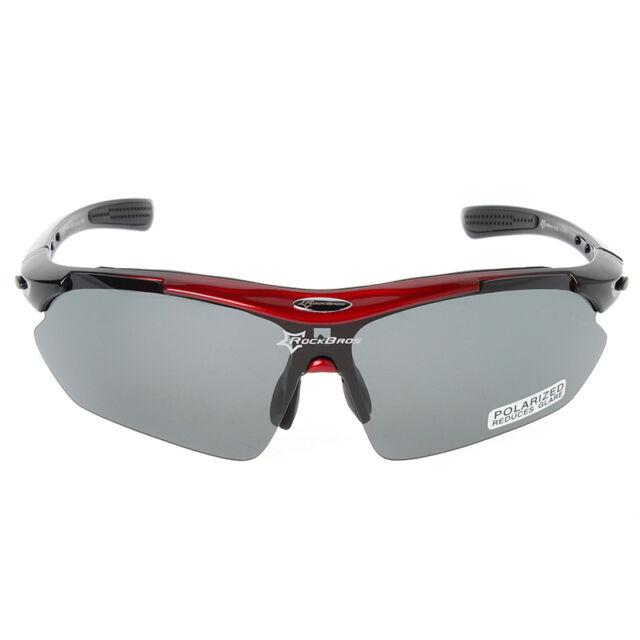 afe010bc24b RockBros Polarized Cycling Sunglasses Bike Sport Glasses Goggles Black Red