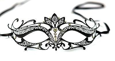 Diamante Luxury Venetian Style Metal Filigree Masquerade Mask Prom Ball Verona