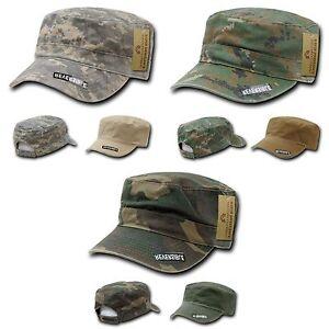 1 Dozen GI Cadet Army Military Flat Top Jeep Beanies Caps Hats Visor Wholesale