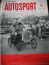 Autosport November 9th 1962 *RAC Rally Preview & Ricardo Rodriguez Killed*