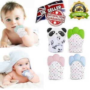 New UK Baby Silicone Teething Mitten Glove Soft Candy Wrapper Teether BPA Free