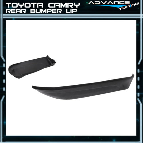 Fits 02 03 Toyota Camry PU Rear Bumper Lip Spoiler 2Pcs Set Poly Urethane
