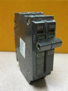 General Electric 2 Pole Twin Tandem 20 Amps THQP220 Circuit Breaker Lot Of 3