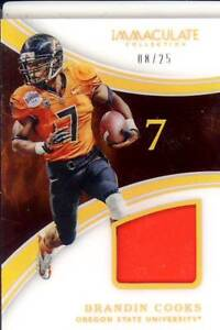 the latest ff608 fe175 brandin cooks game used gu jersey patch oregon state beavers ...