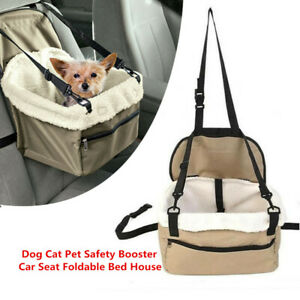 Lookout-Small-Dog-20-Pounds-Car-Seat-Pet-Safety-Booster-Seat-Foldable-Bed-House