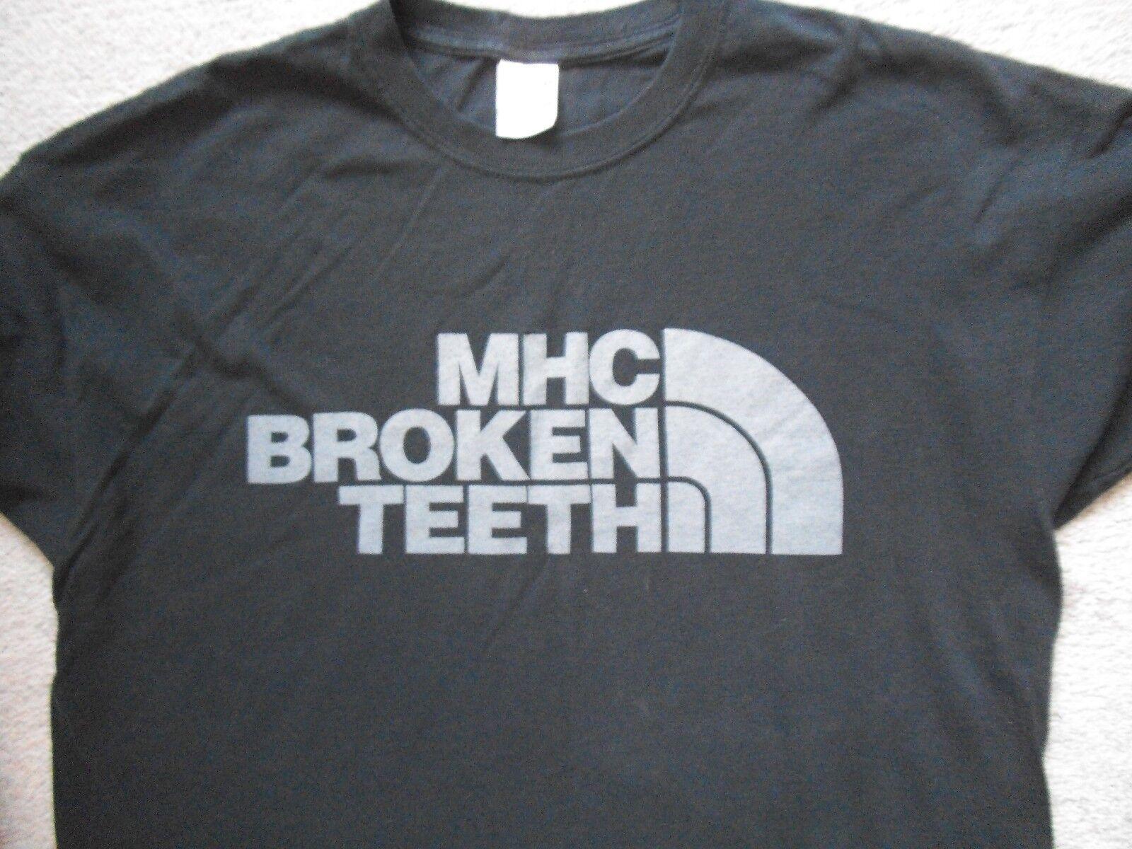 BROKEN TEETH MHC North Face rip T shirt Größe XL sxe hxc ukhc rare xrepentancex