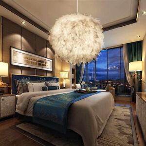 Gansefedern Hangelampe Pendelleuchte Deckenlampe Schlafzimmer Feder Lampe Ebay