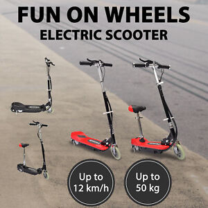 vidaXL Electric Scooter with/no Seat Portable Children Kids Mobility Red/Black
