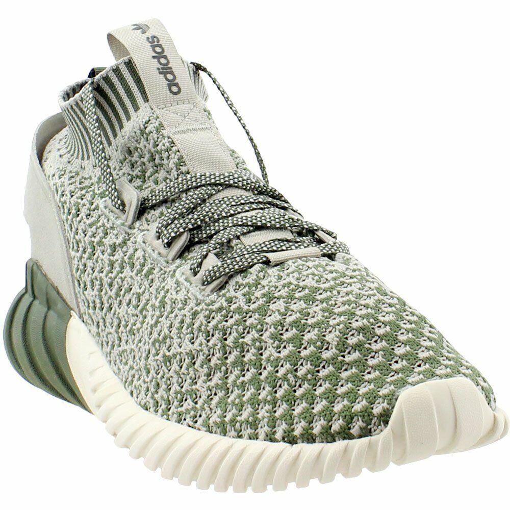 Adidas Tubular Doom Sock Primeknit Sneakers - Green - Mens