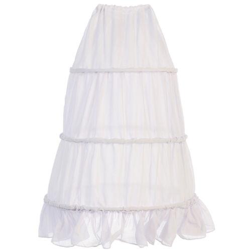 PETTICOAT Flower Girl Dress 3-Ring Hoop Wedding Bridesmaid Formal Birthday Party